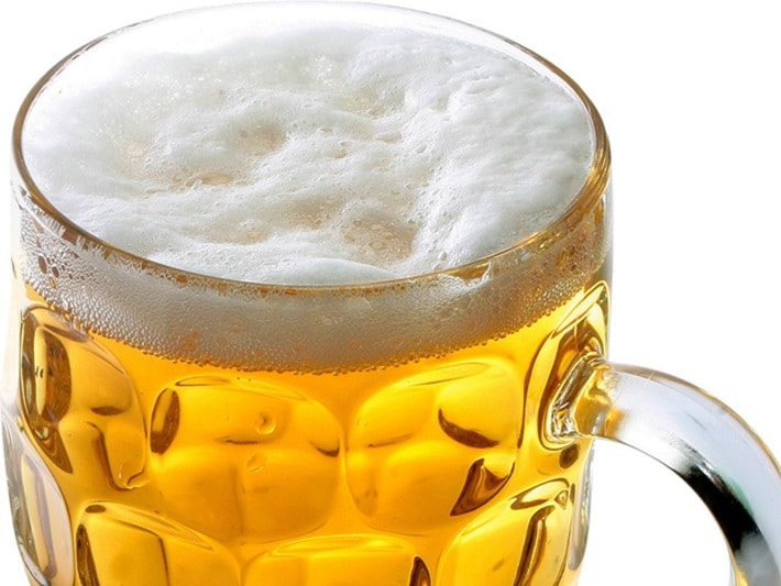 Consumo moderado de cerveja
